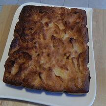 Gâteau noix de coco et pommes