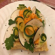 Tarte fine au carpaccio de légumes