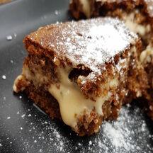 Gâteau aux noix et crème de mascarpone