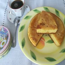 Gâteau cuit à la poêle