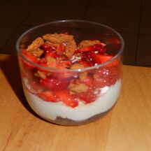 Verrine fraises, fromage blanc et spéculoos