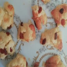 Mini cakes Burratina et raisins secs