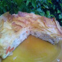 Pastilla au poulet, carottes et amandes
