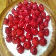 Tarte ricotta et marcarpone aux fraises