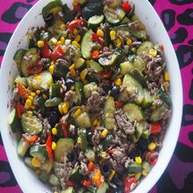 Gratin de légumes et bœuf au gorgonzola