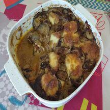 moussaka - mozzarella