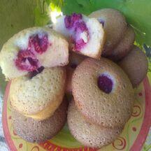 Muffins aux amandes et aux framboises