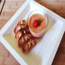 Mousse de tomates au basilic