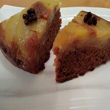 Gâteau aux poires et chocolat caramel renversé