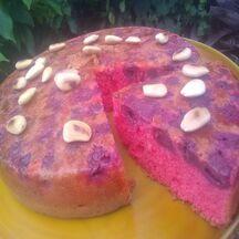 Gâteau rouge cerise