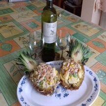 Pagode  crabe ananas