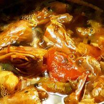 Risotto au Crabe des Neiges et sa bisque à la mer.