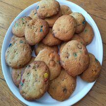 Cookies vanille aux m&m's