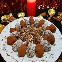 Truffes à la noix de coco, au pralin, à la menthe ou cacao