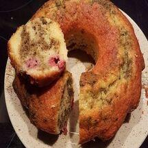 Cake framboise et thé vert Matcha