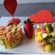 Tartare d'amour aux deux saumons et au gingembre