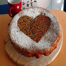 Gâteau d'amour au yaourt et pépites de chocolat