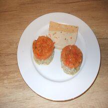 Médaillon de chou-fleur et rougail de tomates