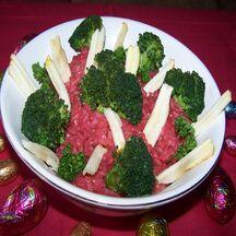 Risotto à la betterave, brocoli et pomme