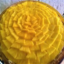Tarte soleil ananas et kiwi jaune