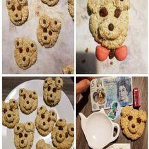 Biscuits oursons aux flocons d'avoine