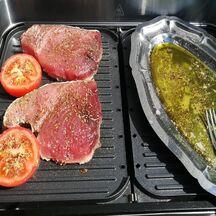 Steaks de thon marinés au barbecue