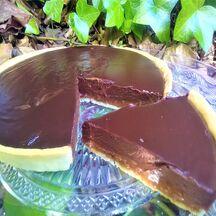 Tarte carambars et chocolat noir
