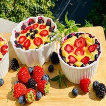 Pudding aux fruits et mascarpone