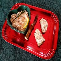 Rillettes de saumon et Saint Moret