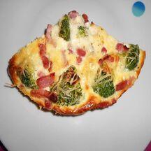 Quiche sans pâte brocolis roquefort
