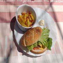 American hamburger frites
