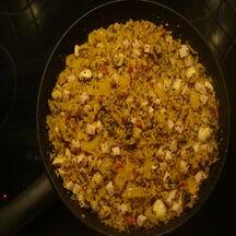 Poêlée de céréales au poulet & légumes