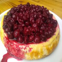 Cheesecake gourmand aux griottes