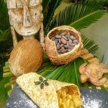 Crêpe hawaïenne à l'ananas caramélisé et coco