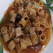 Pâtes aux olives...