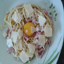 Spaghetti carbonara à ma façon