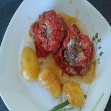 Tomates du jardin farcies