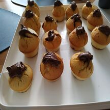 muffins coeurs coulants nutella