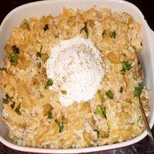 Pasta au thon, courgettes et mozzarella
