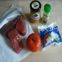 Steaks de thon gratinés à la mozzarella