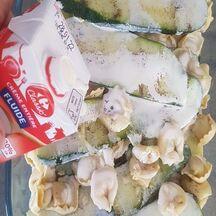 courgettes et raviolis à la crème