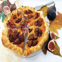 Tarte à la crème d'amande et figues violettes