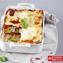 Lasagne aux légumes et fromage fouetté échalote et ciboulette