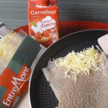 Crêpes aux trois fromages avec  le Râpé de nos 3 Monts Entremont