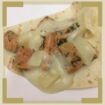 Saumon citron aneth et fromage de brebis façon quesadillas
