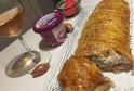 RECIPE THUMB IMAGE 2 Tresse feuilletée au crémeux fromage échalote-ciboulette, saumon aux zestes de citron et fondue d'échalotes.