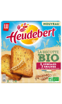 Biscottes 3 céréales 3 graines Bio Heudebert