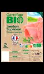 Jambon bio supérieur sans couenne Carrefour Bio