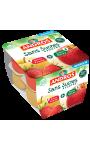 Compote pomme fraise sans sucre ajoutées Andros