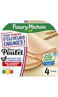 Blanc de poulet sans traitement antibiotique Fleury Michon